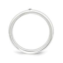 Blue Diamond Ring Sterling Silver QSK1870