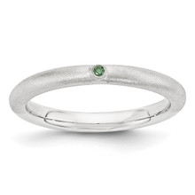 Green Diamond Ring Sterling Silver MPN: QSK1873 UPC: 886774377490 by Stackable Expressions