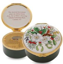 Halcyon Days The Christmas Rose Musical Enamel Box, MPN: RNTCR0933MG, EAN: 5060171139768