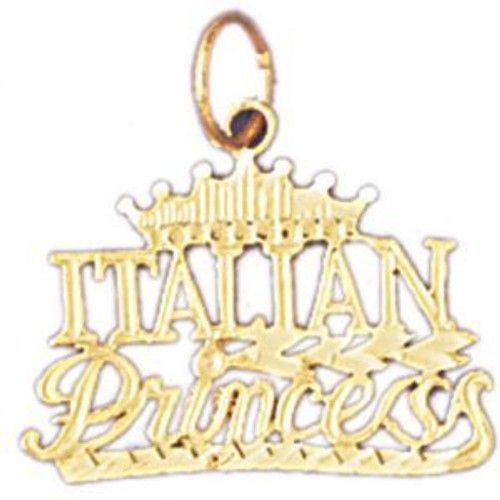 Italian Princess Pendant Necklace Charm Bracelet in Gold or Silver 10412