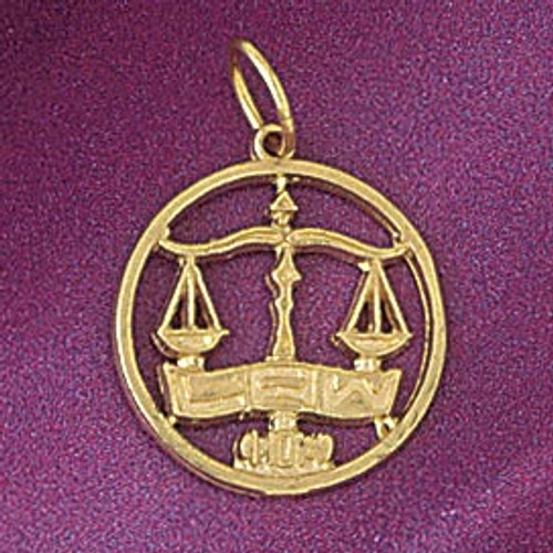Scale Justice Pendant Necklace Charm Bracelet in Gold or Silver 6287