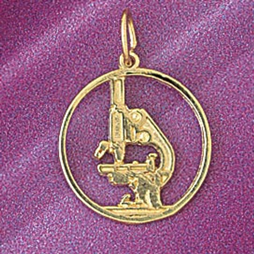 Microscope Pendant Necklace Charm Bracelet in Gold or Silver 6292