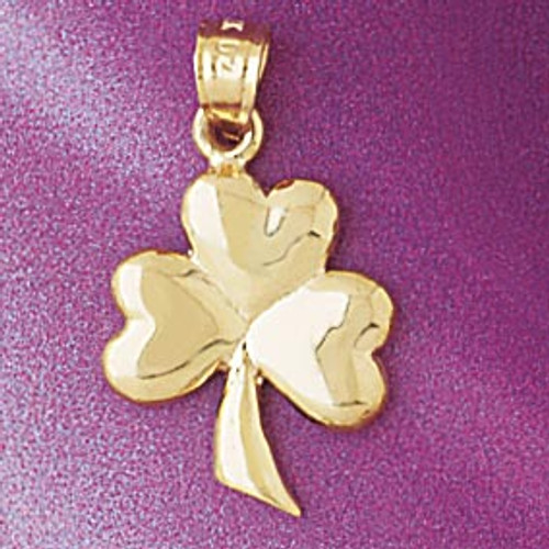 Three Leaf Clover Pendant Necklace Charm Bracelet in Gold or Silver 7074