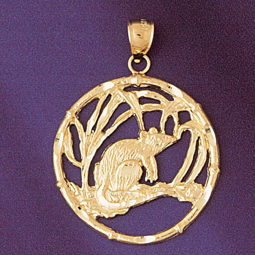 Rat Chinese Zodiac Pendant Necklace Charm Bracelet in Gold or Silver 9303