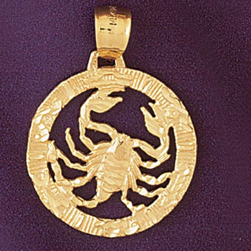 Scorpio Scorpion Zodiac Pendant Necklace Charm Bracelet in Gold or Silver 9399