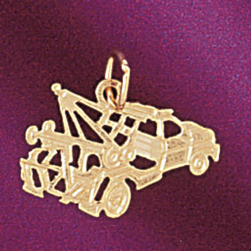 Towing Truck Pendant Necklace Charm Bracelet in Gold or Silver 4321