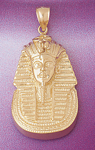 Egyptian Pharaoh Pendant Necklace Charm Bracelet in Gold or Silver 4791