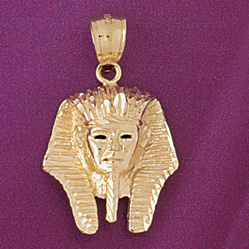 Egyptian Pharaoh Pendant Necklace Charm Bracelet in Gold or Silver 4794