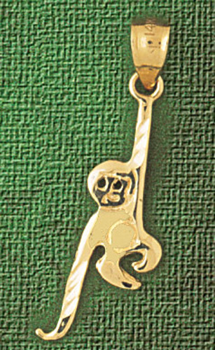 Monkey Pendant Necklace Charm Bracelet in Gold or Silver 2691