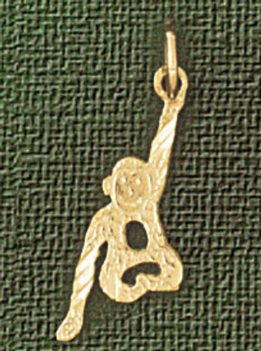 Monkey Pendant Necklace Charm Bracelet in Gold or Silver 2692