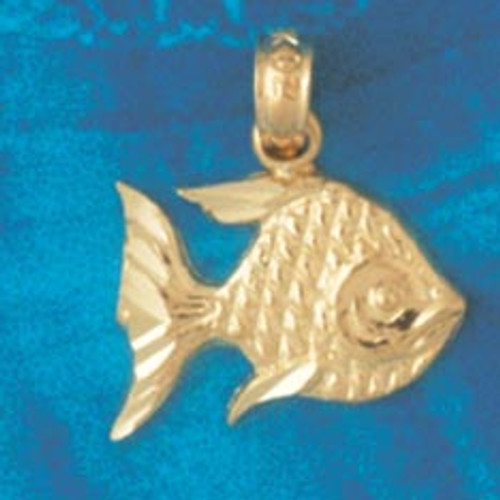 Angelfish Pendant Necklace Charm Bracelet in Gold or Silver 660