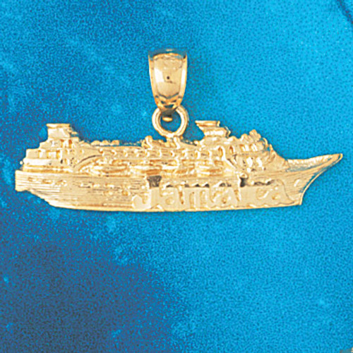 Cruise Ship Pendant Necklace Charm Bracelet in Gold or Silver 1308