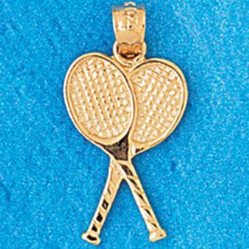 Tennis Racket Pendant Necklace Charm Bracelet in Gold or Silver 3299