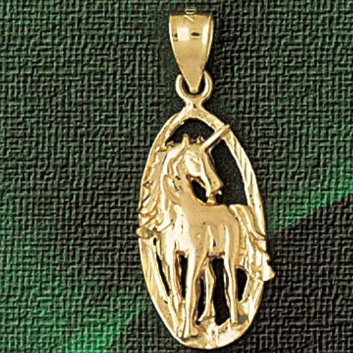 Unicorn Head Pendant Necklace Charm Bracelet in Gold or Silver 1886