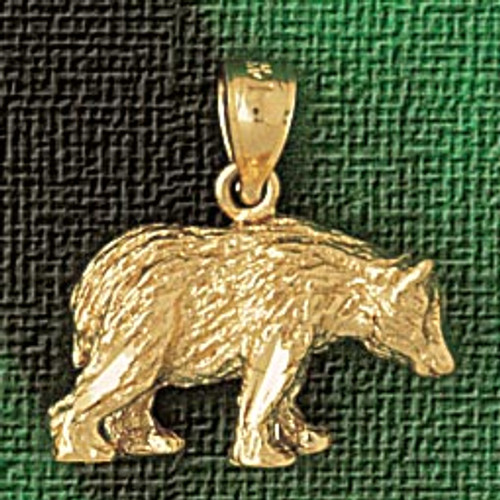 Wild Bear Pendant Necklace Charm Bracelet in Gold or Silver 2551