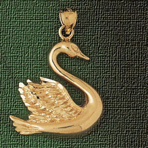 Swan Pendant Necklace Charm Bracelet in Gold or Silver 3007