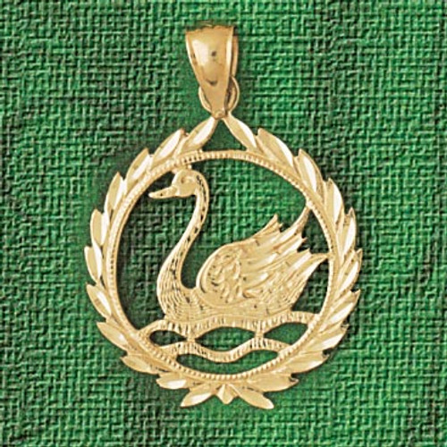 Swan Pendant Necklace Charm Bracelet in Gold or Silver 3008