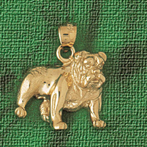 Bulldog Dog Pendant Necklace Charm Bracelet in Gold or Silver 2192