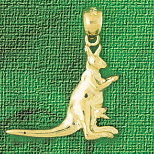 Kangaroo Pendant Necklace Charm Bracelet in Gold or Silver 2609