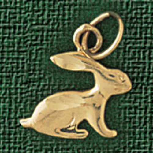 Rabbit Pendant Necklace Charm Bracelet in Gold or Silver 2746
