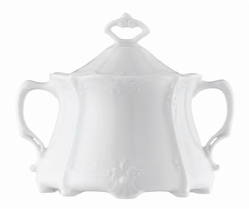 Rosenthal Baronesse White Sugar Bowl Covered 8 1/2 ounce