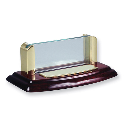 Wood and Acrylic Business Card Holder Desk Accessory GL7734
