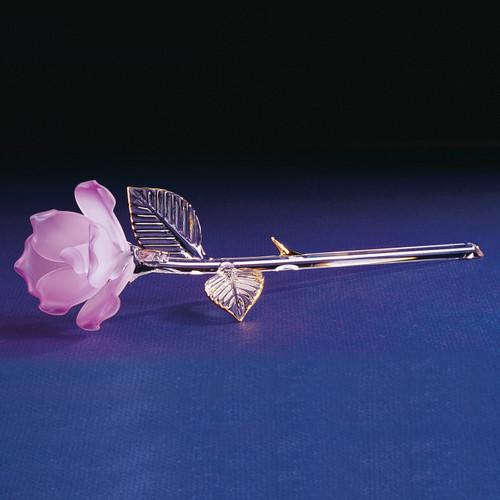 Lavender Rose Glass Figurine GL865