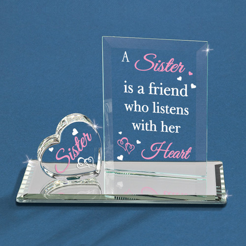 A Sister Listens with Her Heart Glass Figurine GM1165