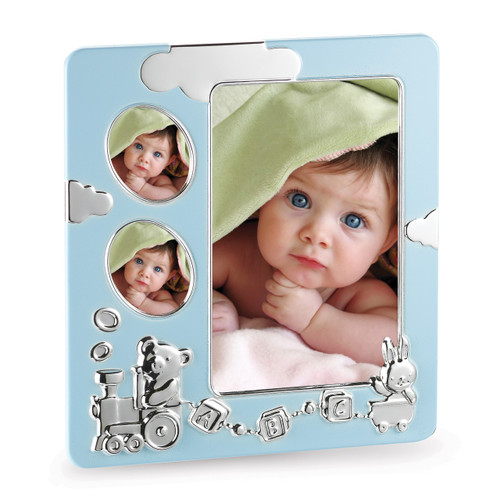 Blue Baby Train 4 x 6 Inch & 1.5x1.5 Picture Frame GM12864