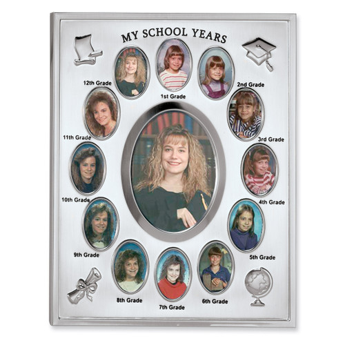 Silver-plated My School Years Picture Frame GM1799