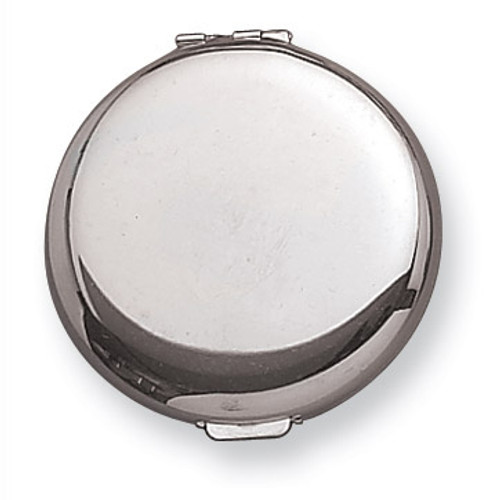 Brass with Silver-Tone Compact Mirror GM2769