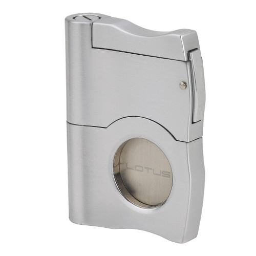 Lotus Brushed Chrome Punch Cigar Cutter GM3451