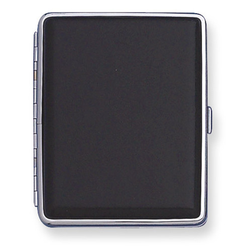 Black Leather Covered (Holds 20-100mm) Cigarette Card Case GM4992
