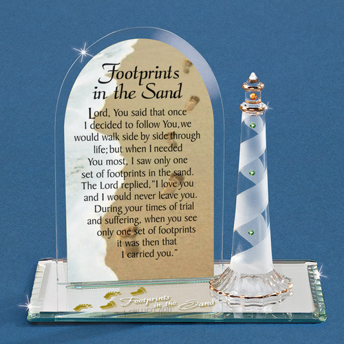Footprints In The Sand Glass Figurine GM6682