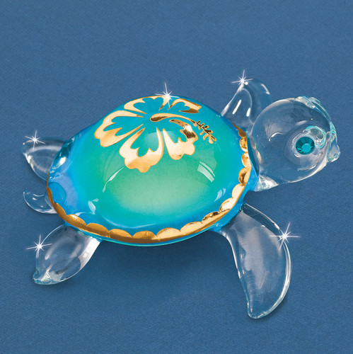 Aloha Sea Turtle Glass Figurine GM6710