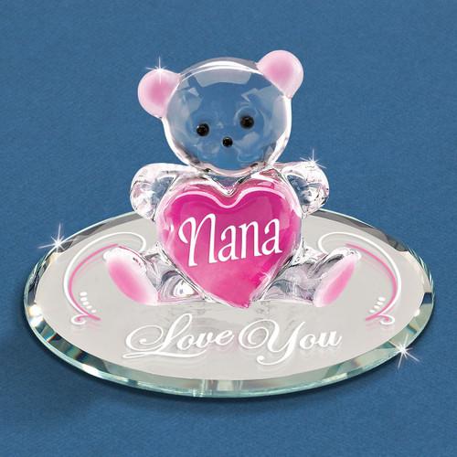 Nana - Love You Bear Glass Figurine GM6719