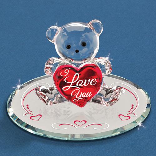 I Love You Bear Glass Figurine GM6720