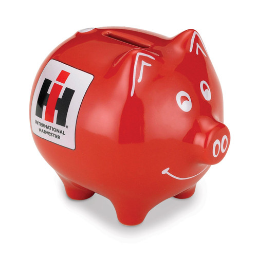 Polyresin International Harvester Logo Piggy Bank GM8498