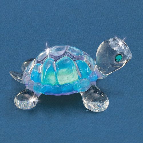 Blue Turtle Glass Figurine GM9432