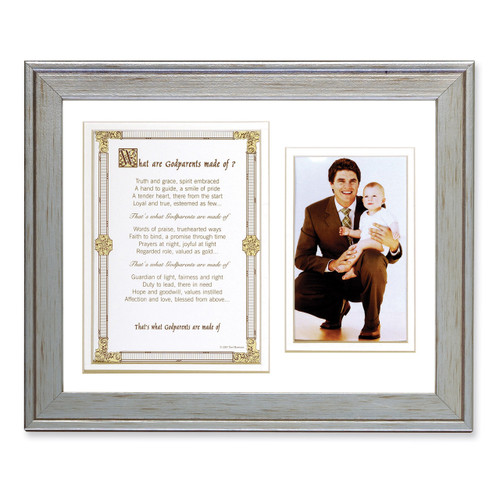 What Are Godparents Made of Poem and 8 x 10 Inch Picture Frame GP1078