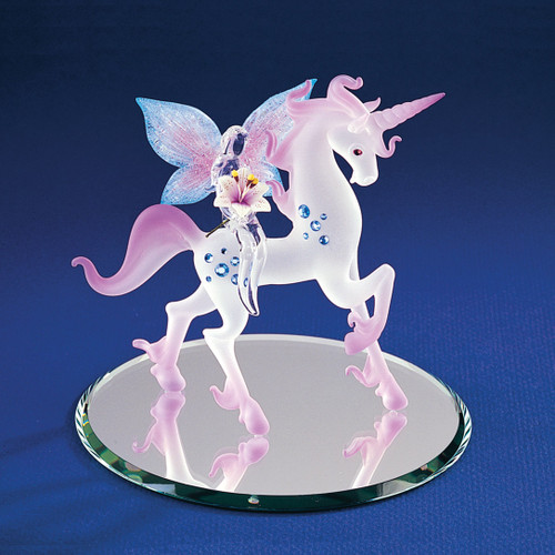 Unicorn with Fairy Glass Figurine GP1141