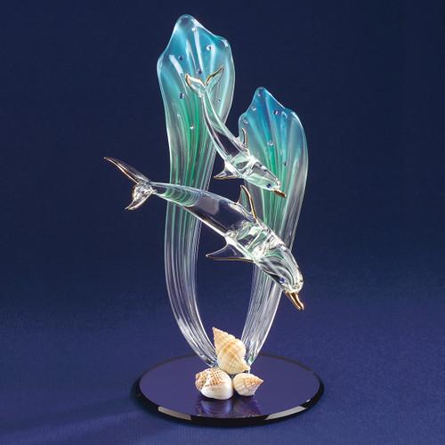 Dolphin & Baby Glass Figurine GP1146