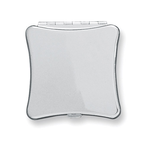 Silver-plated Plain Compact Mirror GP2061