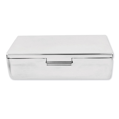Silver-plated Rectangular Mirrored Double Lipstick Case GP2077