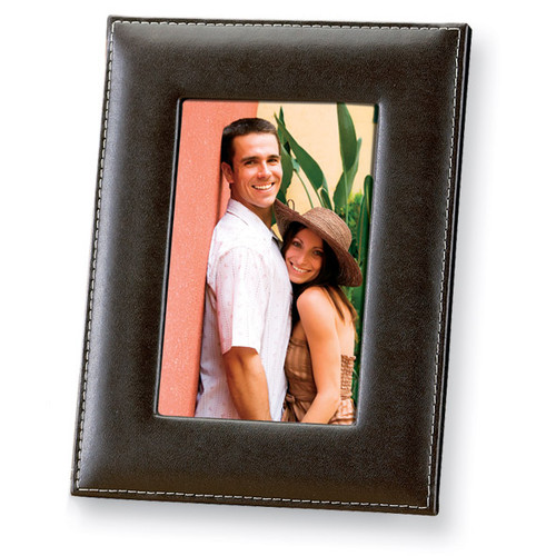 Dark Brown Leather 5 x 7 Inch Picture Frame GP5973