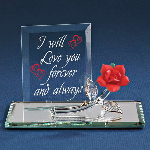 Forever Red Rose Glass Figurine GP6033