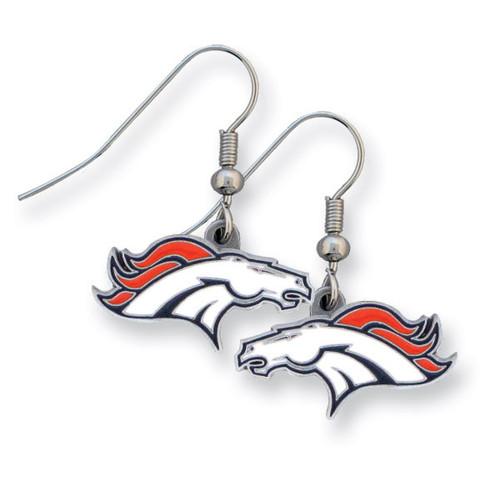 Broncos Enameled Zinc Dangle Earrings GM2599
