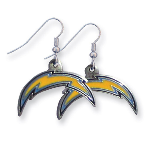Chargers Enameled Zinc Dangle Earrings GM2601