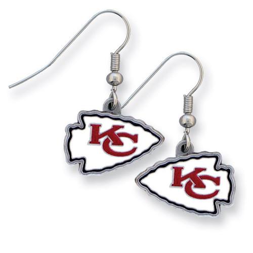 Chiefs Enameled Zinc Dangle Earrings GM2602