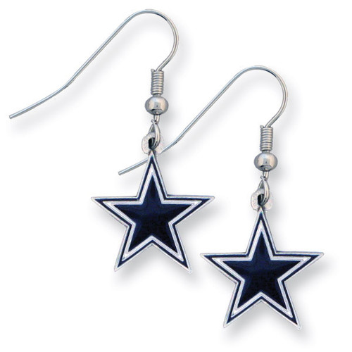 Cowboys Enameled Zinc Dangle Earrings GM2604